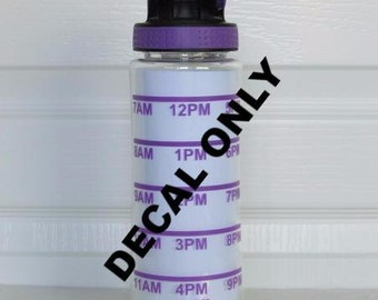 Vinyl Decal - 3 refill time table only for water intake