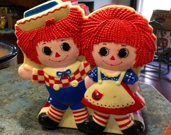 1977 Raggedy Ann and Andy Talking Bank