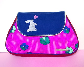 Clutch Purse - Bunny Love Clutch (Vintage Magenta Flora)