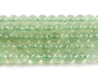 Prehnite Round Gemstone Beads