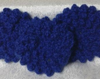 Hand Crocheted Dark Blue Face Scrubbies - Set of 3