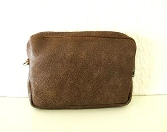Simple Brown Leather Belt Bag