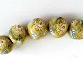 Polymer Beads, Flower Beads, Clay Beads, Artisan Beads, Polymer Flowers, Clay Flower Beads, Polymer Clay Beads