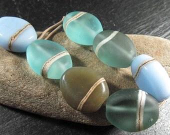Moody blues pressed pebble bead set no 1