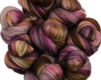 Memoir battlings - mini batts (2 oz) superwash superfine merino wool and silk -- Literary Series