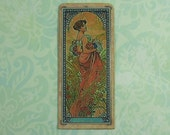 Dollhouse Miniature Art Nouveau Stained Glass Wall Panel