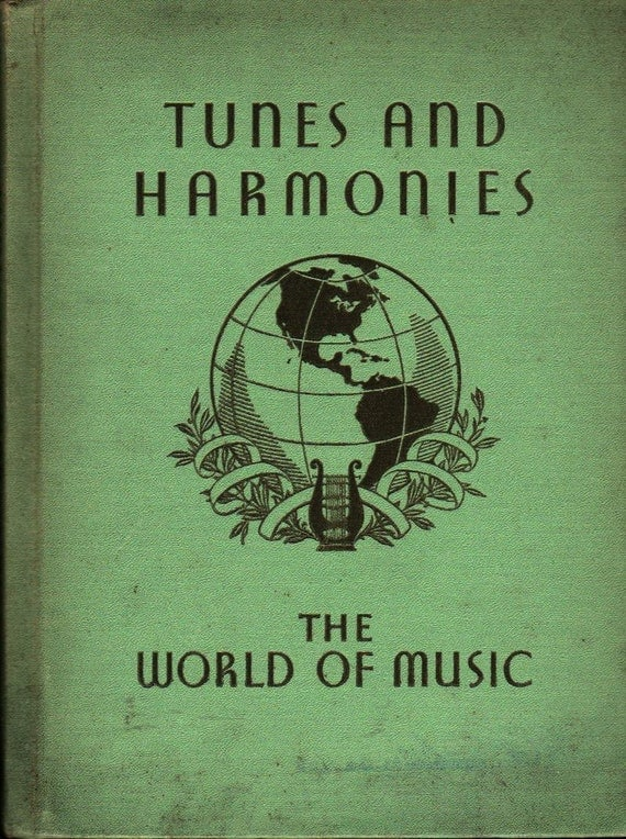 Tunes and Harmonies The World of Music - Mabelle Glenn - 1936 - Vintage Kids Book