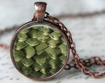Dragon Scales Pendant, Necklace or Key Chain - Choice of 4 Colors