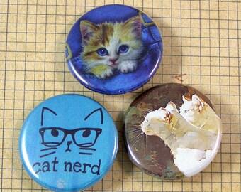 Cat Lover Pinback Button Set
