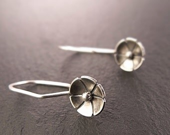 Earrings - Dainty Dangle Earrings in Sterling Silver - Handmade in Seattle