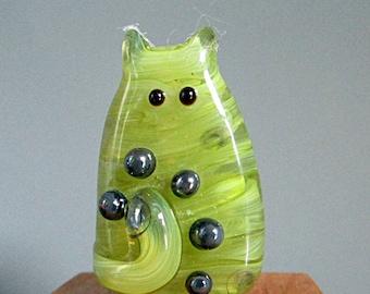 Cat Bead Handmade Lampwork Focal - Collingsworth FatCat