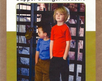 Patterns by Figgy's - DAPPER DILLINGER TROUSERS - Multi-Size Sewing Pattern - Sizes 12 Months to 6/7