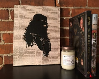 Harry Potter Silhouette Painting - Dumbledore