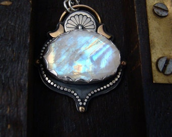 over the rainbow ... moonstone pendant