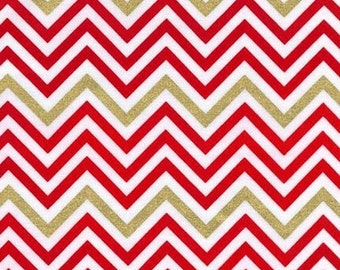 ON SALE - 10% Off Robert Kaufman Remix Zig Zag Flame Metallic Chevron Quilting Apparel Fabric BTY