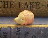 Ceramic Porcelain Hedgehog Bead Charms