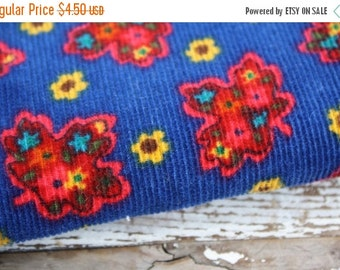 30% OFF SUPER SALE- Floral Corduroy Fabric-Primary Colors