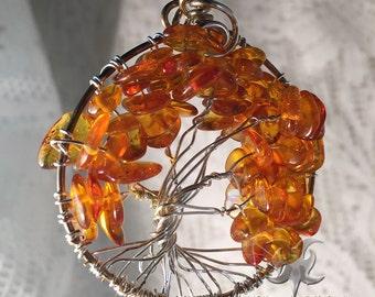 Autumn Amber Tree of Life