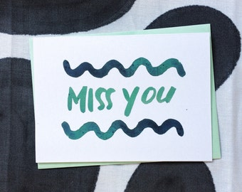 Miss You... Squiggle Postcard