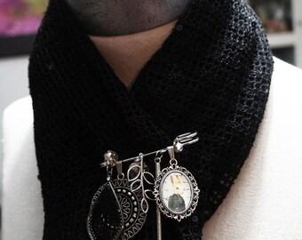 Rabbit Pin, Antiqued Silver,  Silver Scarf Pin , Kilt Pin, Bunny Rabbit Jewlery,  Costume Jewelry,  Brooch Pin, Silver Jewelry