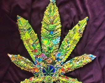 The Fantastic Bead Mosaics Cannabis Leaf Series