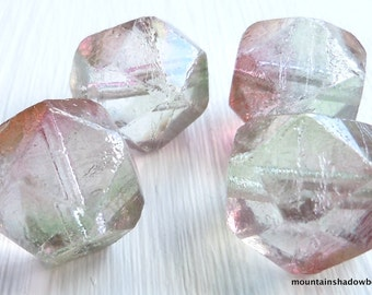 Pink Crystal Luster Czech Glass Beads 16mm English Cut - You Choose Quantity