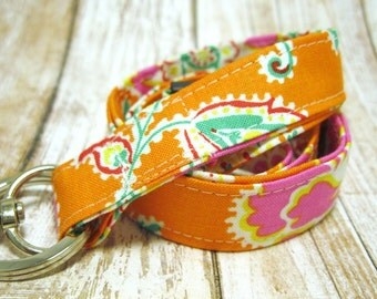 Lanyard, Badge Holder, ID Holder, Breakaway Lanyard, Fabric Lanyard, Employee Lanyard, Teacher Lanyard, Summer Sunshine