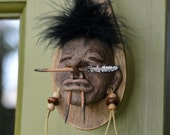 NEW Shrunken Head Wooden Spoon Kitchen Decor #2