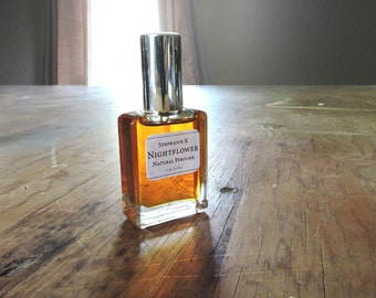 Nightflower - Natural Perfume oil with Indian Jasmine, rich woods & resins - a sensual floral fragrance for women (and men!)