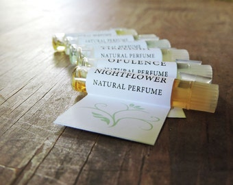 Natural Perfume Sample set - all 6 natural perfume oil samples