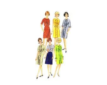 1960s Dress Blouse Skirt Butterick 3953 Vintage Sewing Pattern Size 12 Bust 32 UNCUT