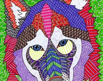 Dogs 2 Original Drawing