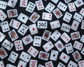 Mini Delights Small Playing Cards Cotton Fabric Yardage 83 x 44