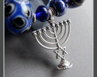 Memory Wire Chanukah Festival of Lights Hanukkah Bracelet by Cornerstoregoddess