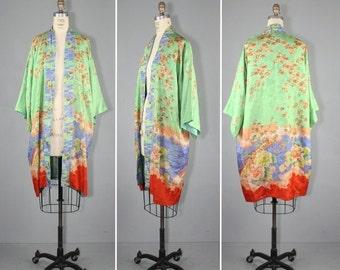 kimono sale / 1920s / silk robe / vintage kimono / flapper / AIX EN PROVENCE antique kimono