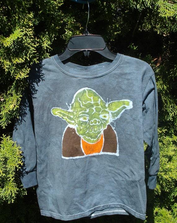 Kids Handmade Batik Star Wars Yoda Tshirt