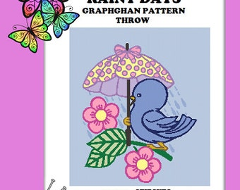 Rainy Days - Graphghan Crochet Pattern