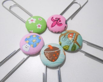 Jumbo Paperclip Bookmark Group of Five (5) Party Pack of Five Bookmarks