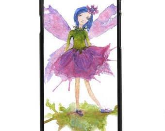 """Phone Case """"Belle Blossom"""" - Fairy, Children, Pixie, Magical, Fantasy, Watercolor Painting By Olga Cuttell"""
