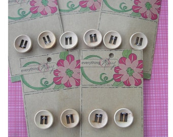 Five Lovely Cards of Wooden Buttons