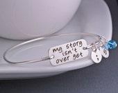 My Story isn't Over Yet Bangle Bracelet, Semicolon Bracelet, Mental Health Awareness Jewelry