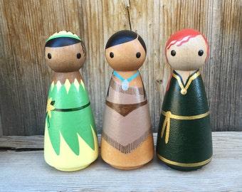 Princess Add-on : Merida, Tiana, and Pocahontas