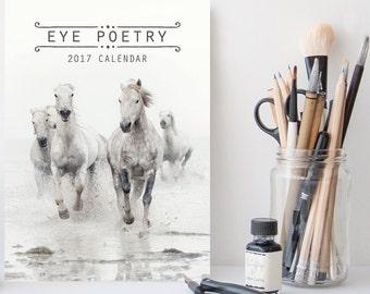 30% OFF - Eye Poetry 2017 Desk Calendar, Printed 2017 Calendar, Fine Art Photography, Nature and Landscape Photo Calendar