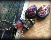 Rustic Treasures Agate and Crystal Earrings