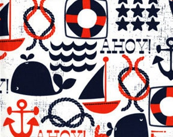 X-Large XL Wet bag 16 X 22 x 6 / Swim / Diapers / Gym /  Ahoy Matey Nautical Fabric / SEALED SEAMS and Snap Strap