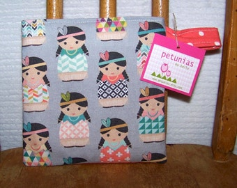 Reusable Little Snack Bag - pouch kids adults eco friendly Indians exclusive fabric by PETUNIAS