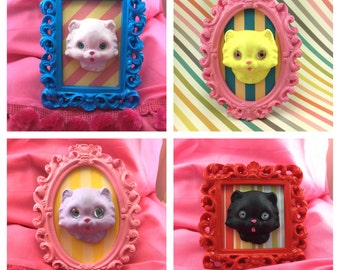Pretty Kitty in Ornate Frame  CHOOSE your KItty
