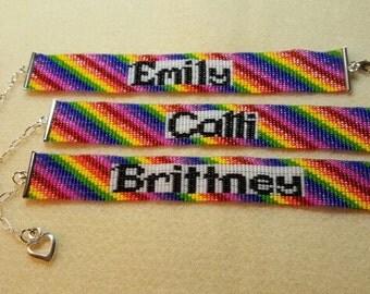 Custom designed personalized beaded bracelet