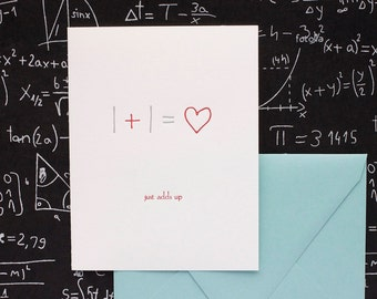 Just Adds Up - letterpress card