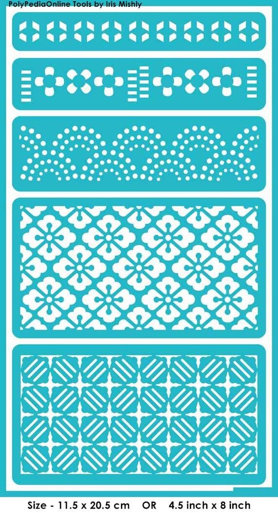 Pochoir pochoirs motif g om trique r utilisable adh sif for Adhesif geometrique